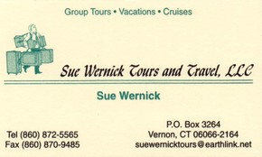 Click to see Sue Wernick Tours and Travel Llc Details